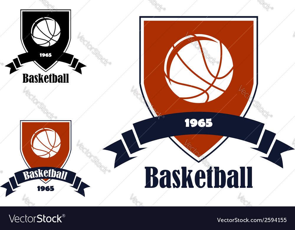 Basketball sports emblems and symbols vector | Price: 1 Credit (USD $1)