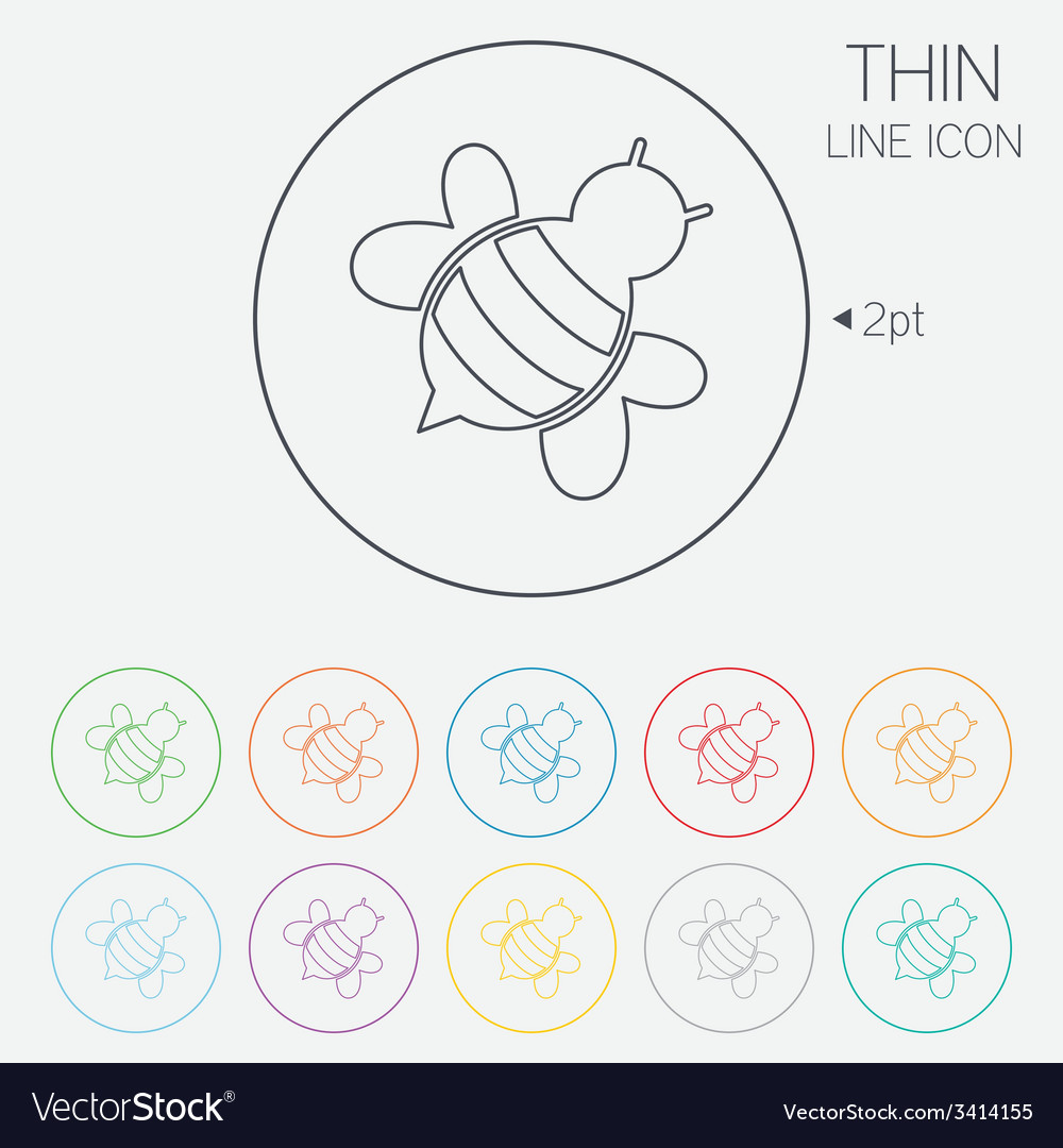 Bee sign icon honeybee or apis symbol vector | Price: 1 Credit (USD $1)