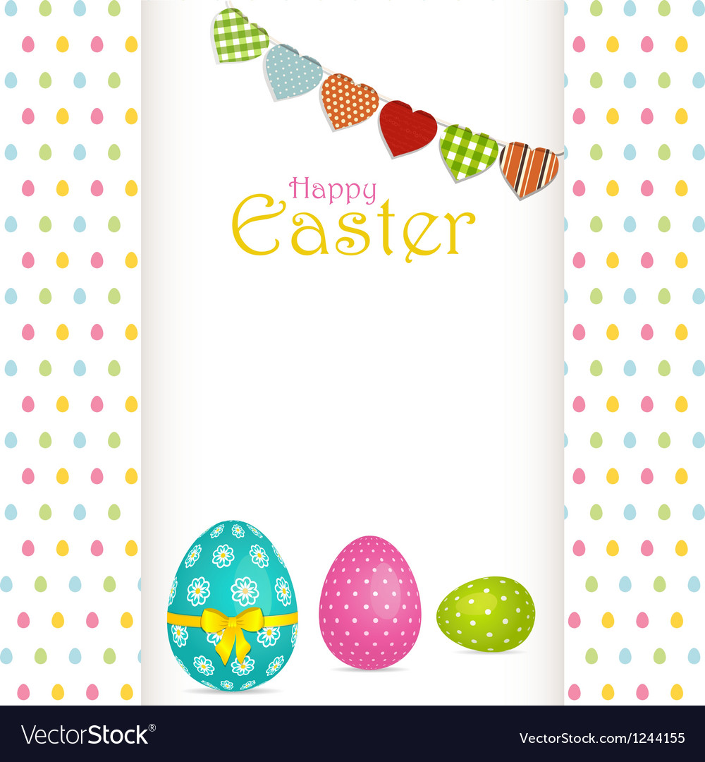 Easter egg background with panel and message vector | Price: 1 Credit (USD $1)