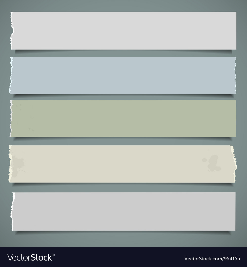 Five realistic paper banners vector | Price: 1 Credit (USD $1)