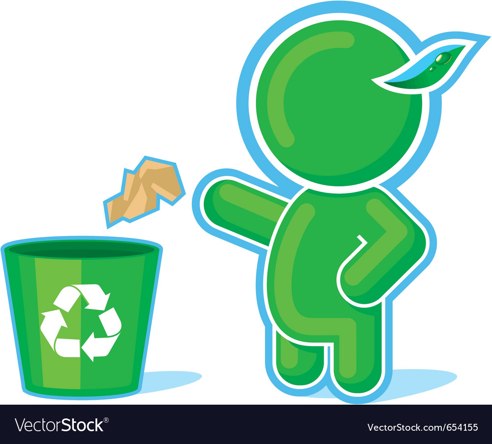 Green hero recycle container vector | Price: 1 Credit (USD $1)