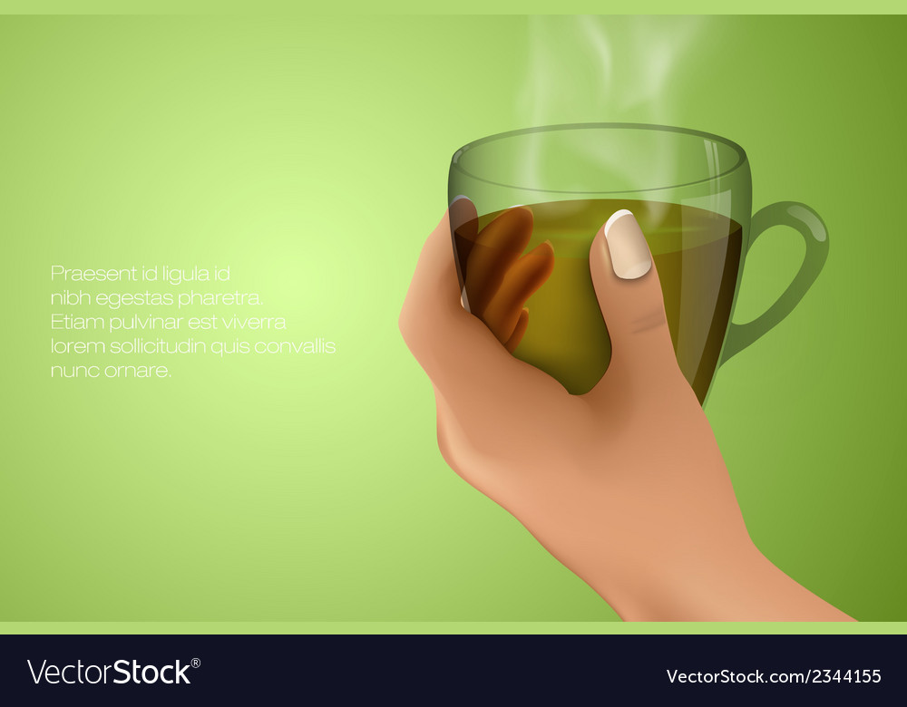 Hand holding a cup vector | Price: 1 Credit (USD $1)
