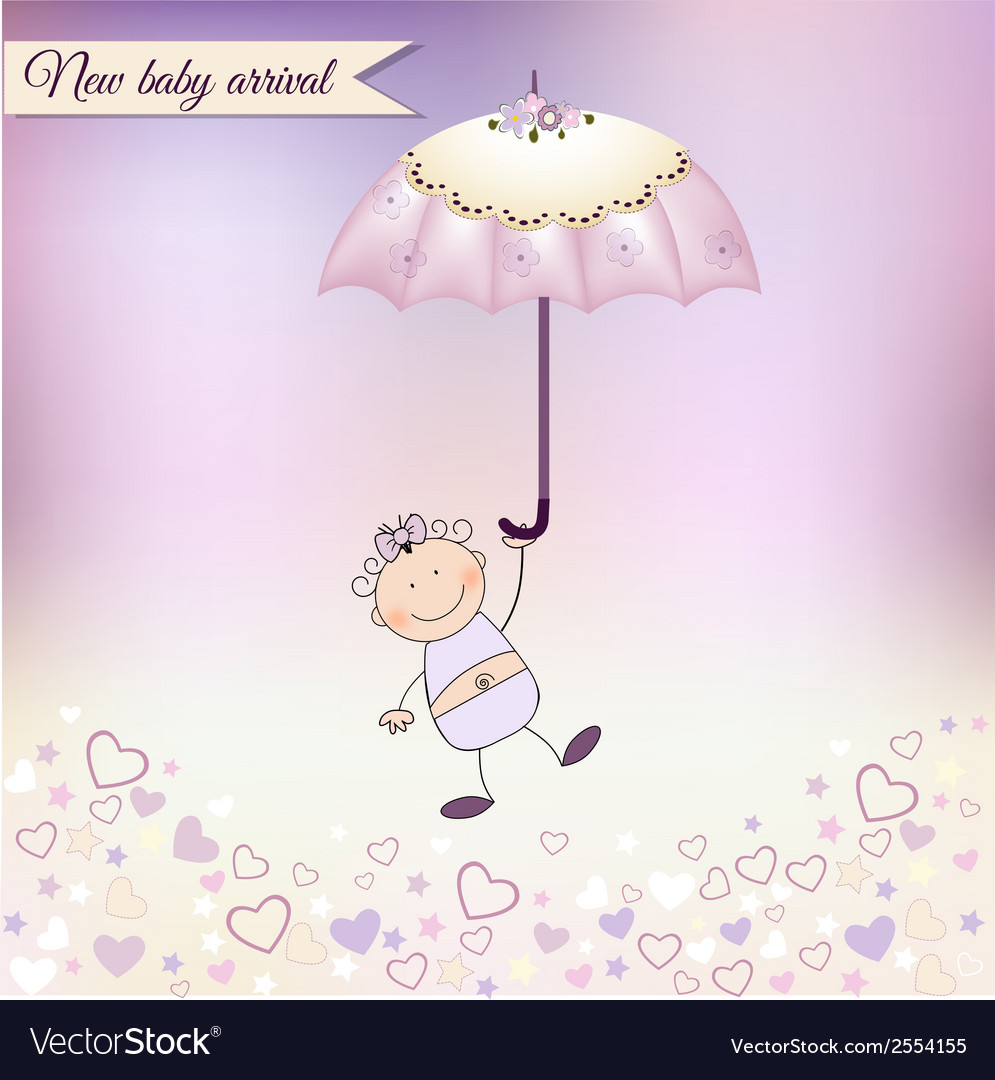 New baby girl arrived vector   Price: 1 Credit (USD $1)