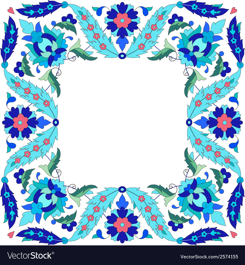 Ottoman motifs design series sixty seven vector | Price: 1 Credit (USD $1)