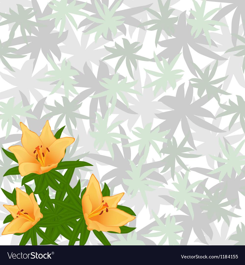 Summer flowers vector | Price: 1 Credit (USD $1)