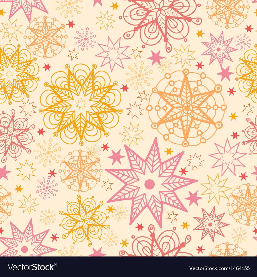 Warm stars seamless pattern background vector | Price: 1 Credit (USD $1)
