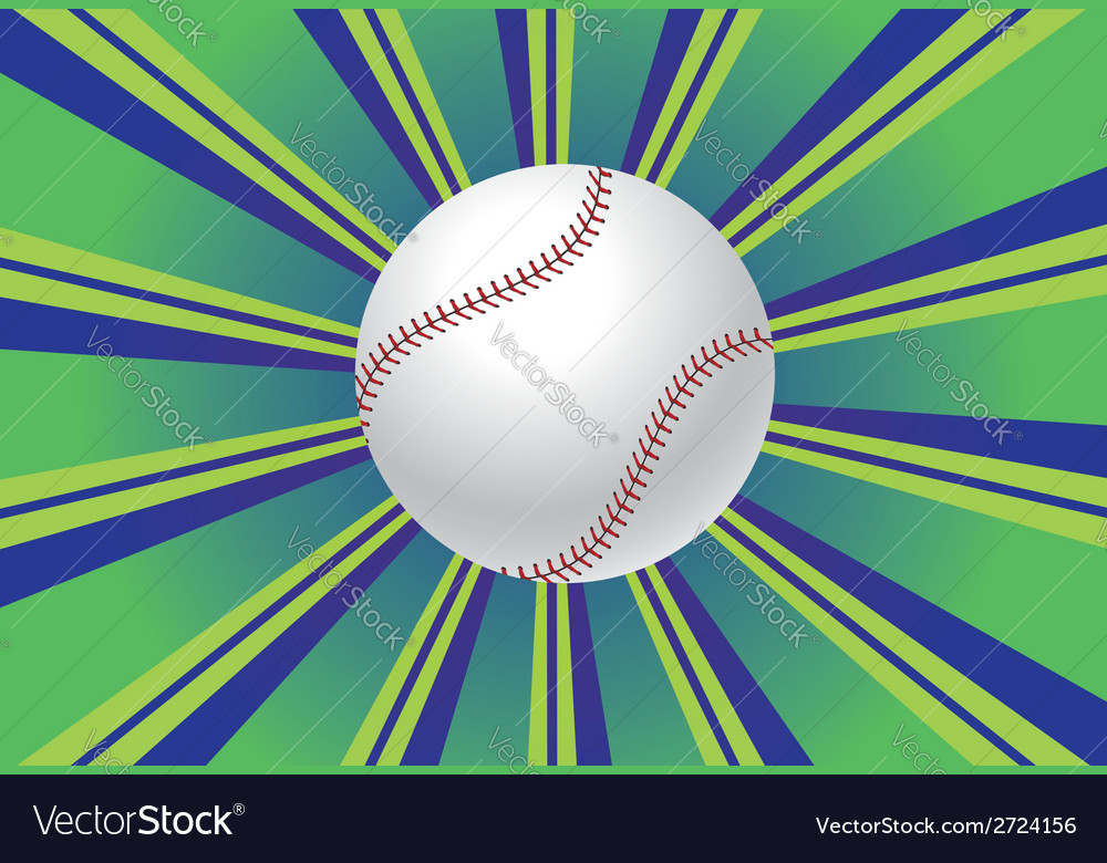 Baseball ball background vector | Price: 1 Credit (USD $1)