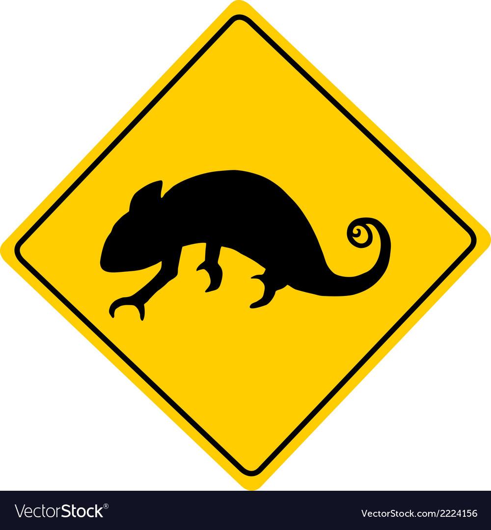 Chameleon warning sign vector | Price: 1 Credit (USD $1)