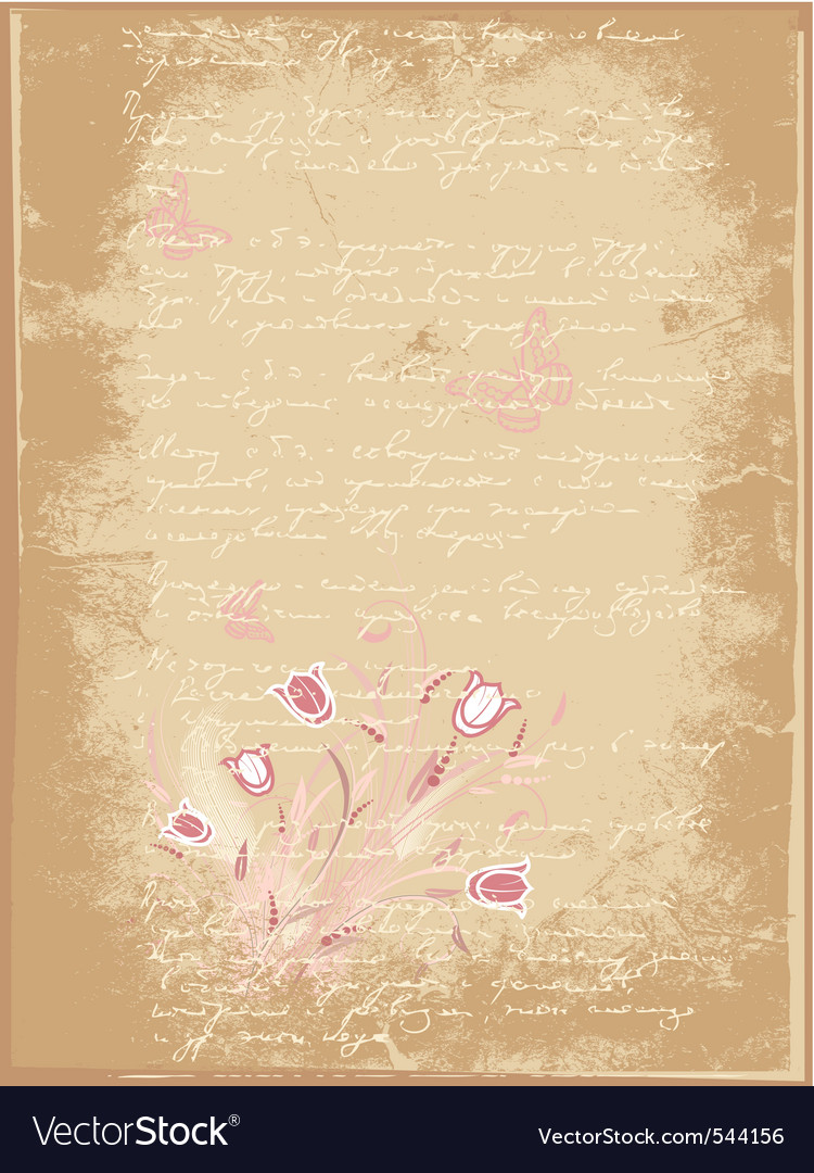 Grunge letter of flowers vector | Price: 1 Credit (USD $1)