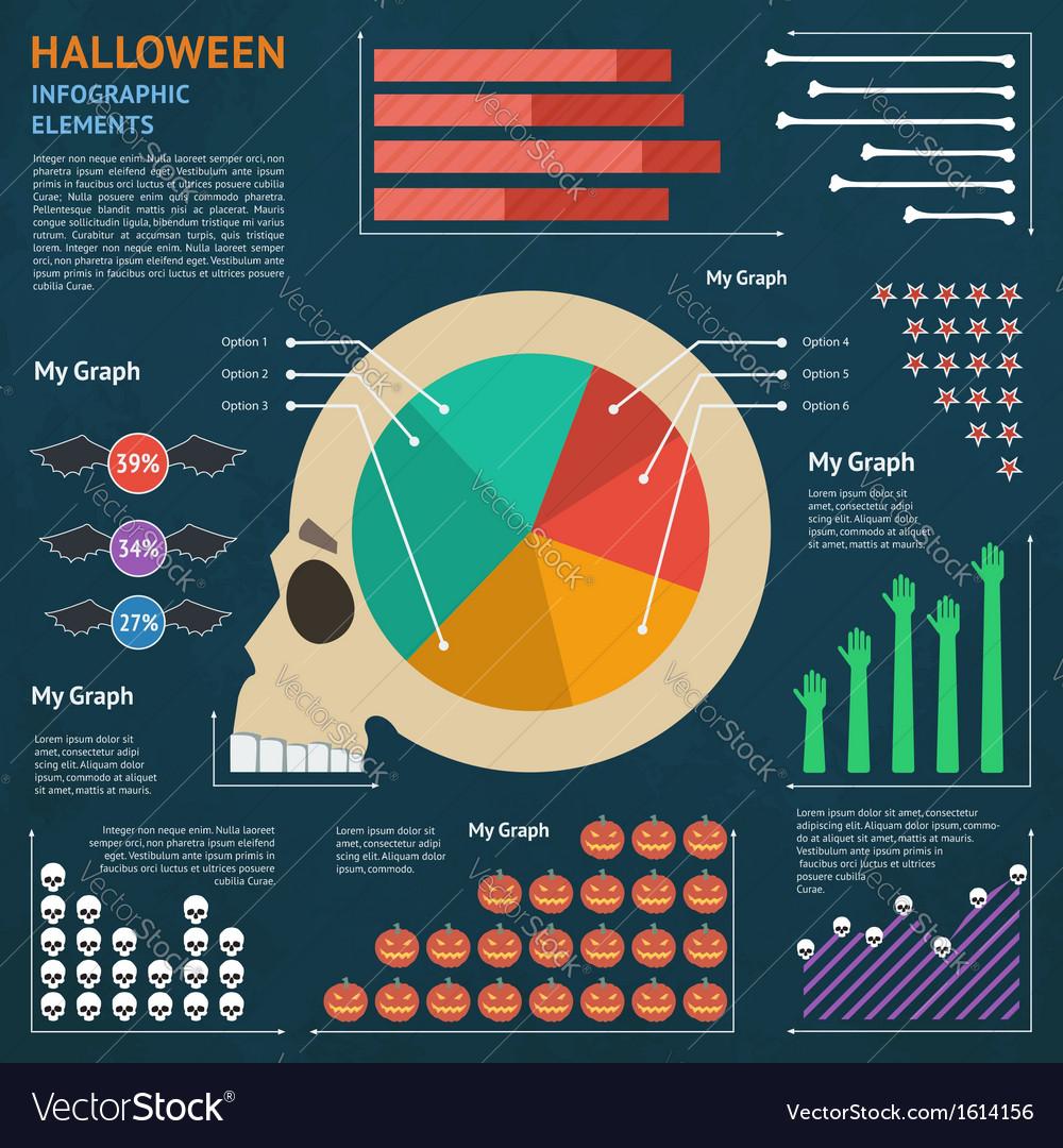 Halloween infographic 1 vector | Price: 1 Credit (USD $1)