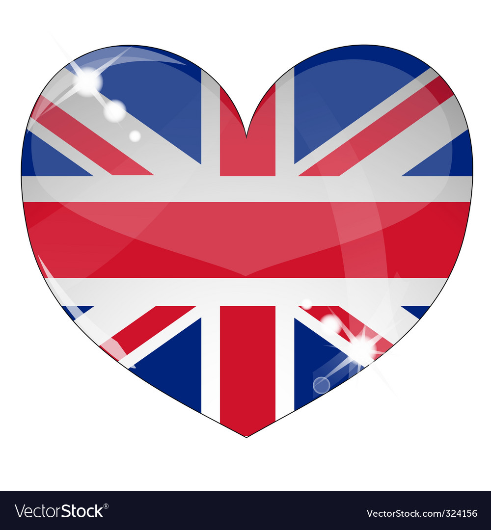 Hear britain flag vector | Price: 1 Credit (USD $1)