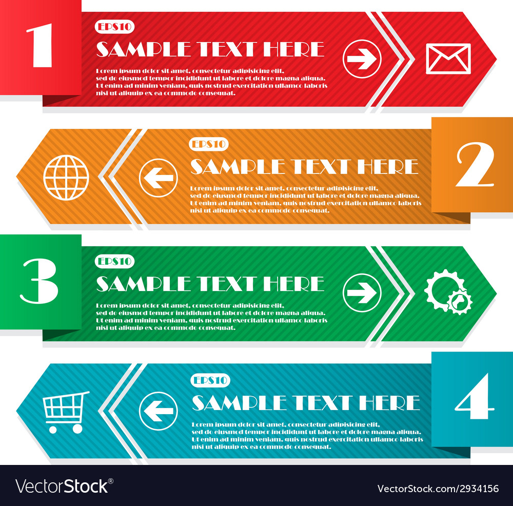 Infographic four lines vector | Price: 1 Credit (USD $1)