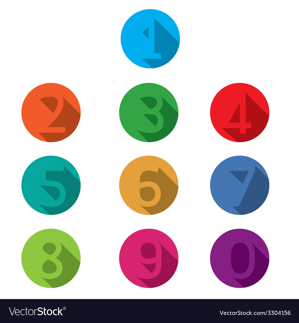 Numbers set vector | Price: 1 Credit (USD $1)