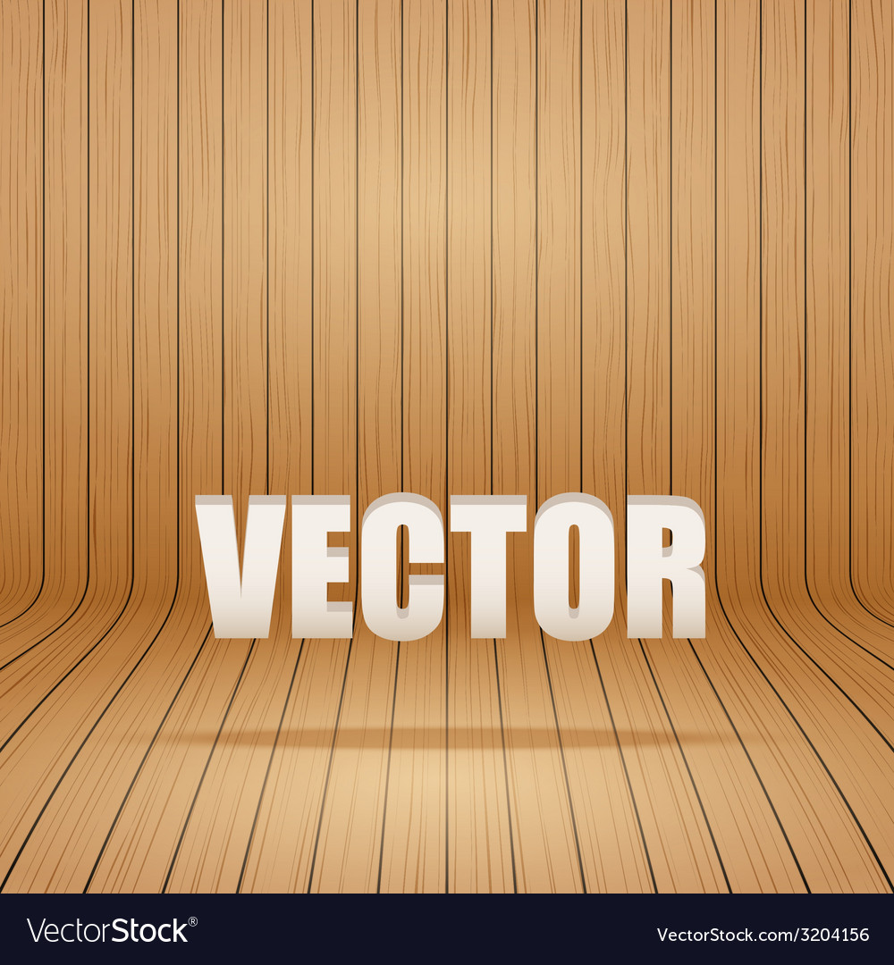 Old curved wooden background grunge old interior vector   Price: 1 Credit (USD $1)