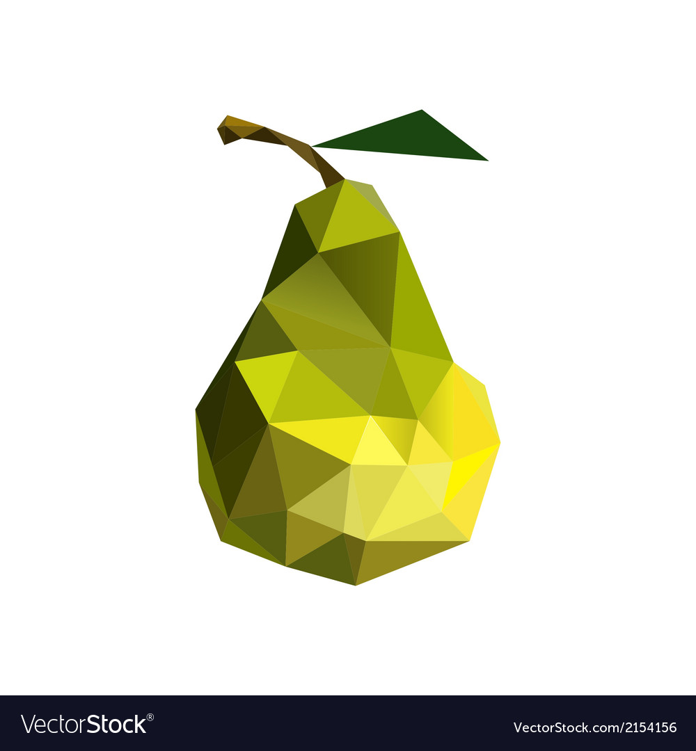 Origami pear vector | Price: 1 Credit (USD $1)