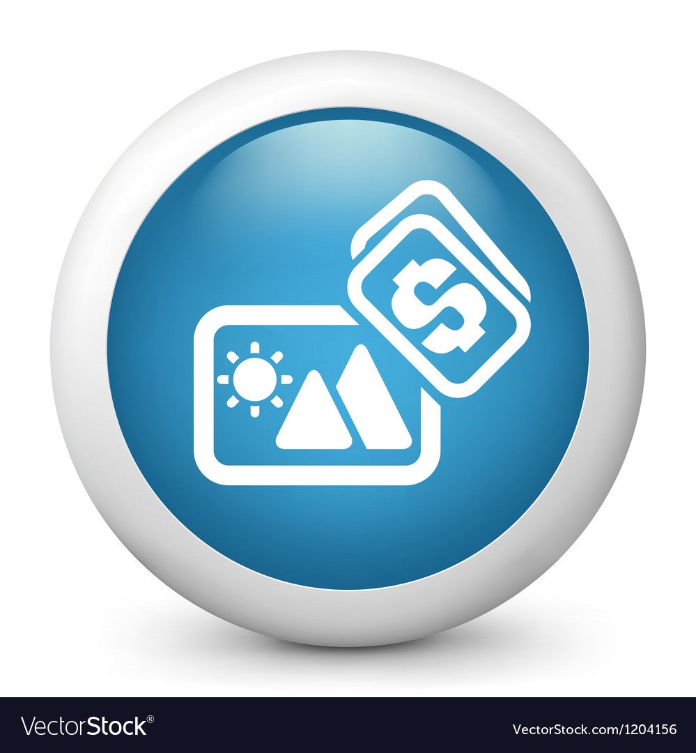 Photograph purchase glossy icon vector | Price: 1 Credit (USD $1)