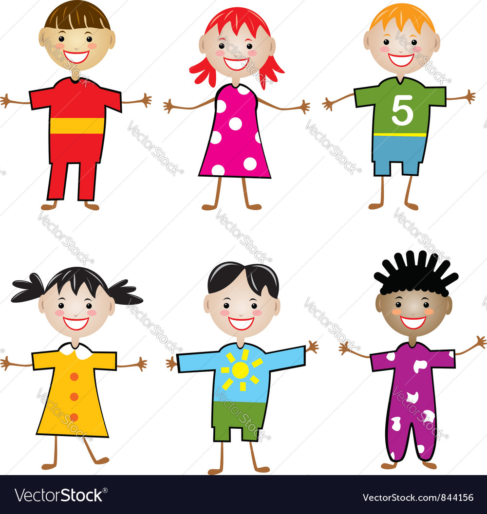 Young children vector | Price: 1 Credit (USD $1)