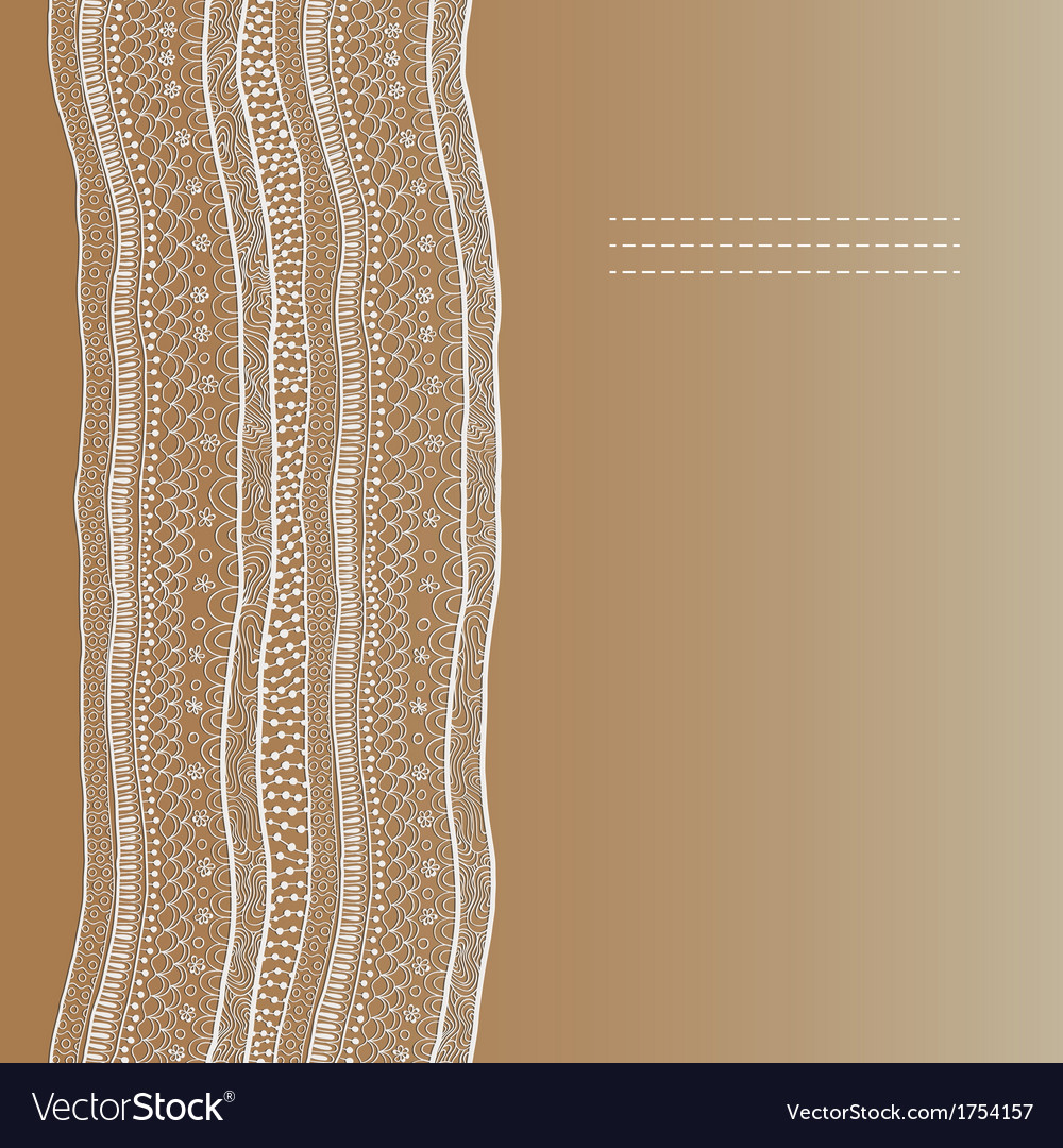 Abstract lace ribbon seamless pattern template vector | Price: 1 Credit (USD $1)