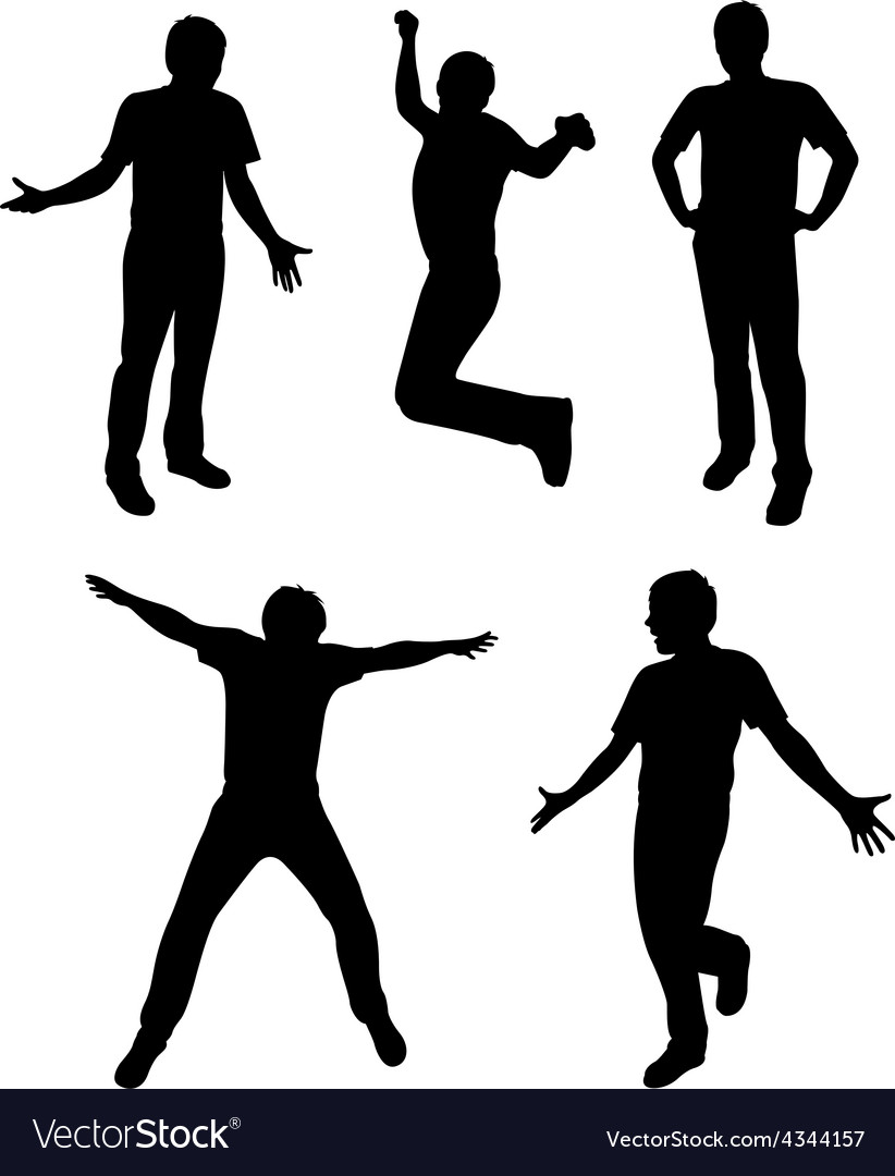 Active people silhouette vector | Price: 1 Credit (USD $1)