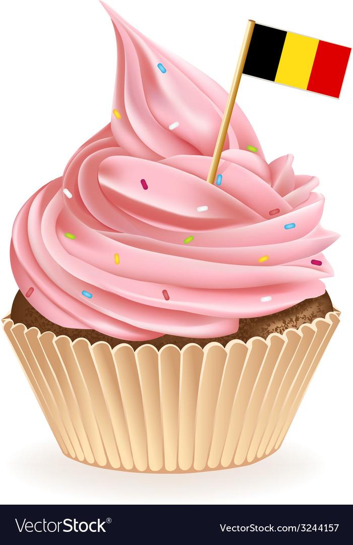 Belgian cupcake vector | Price: 1 Credit (USD $1)