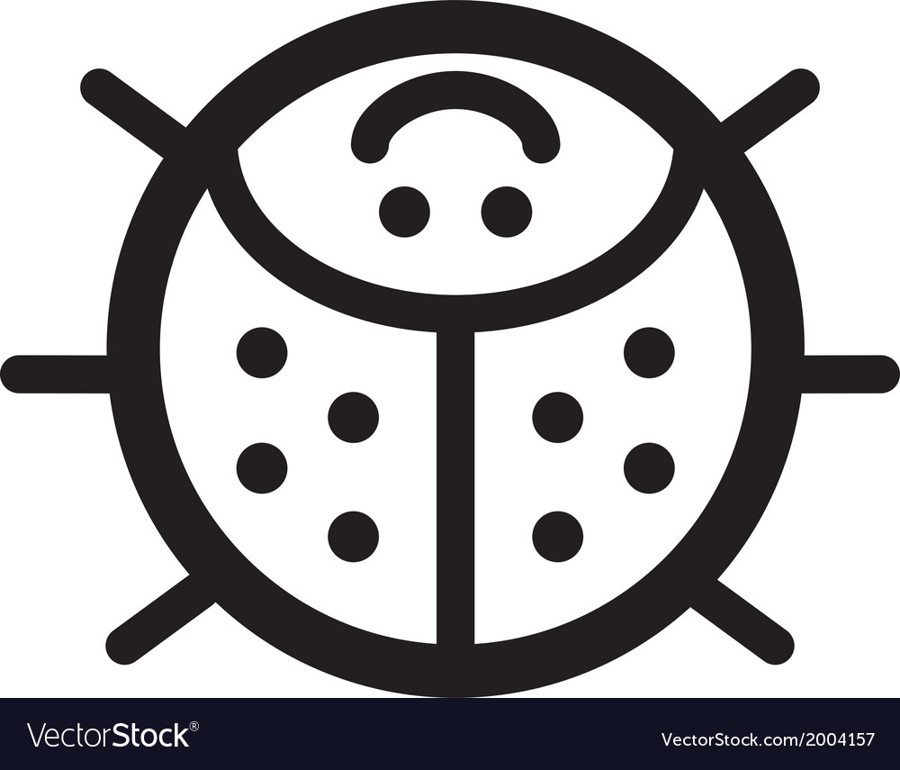 Cute insect ladybird - vector | Price: 1 Credit (USD $1)