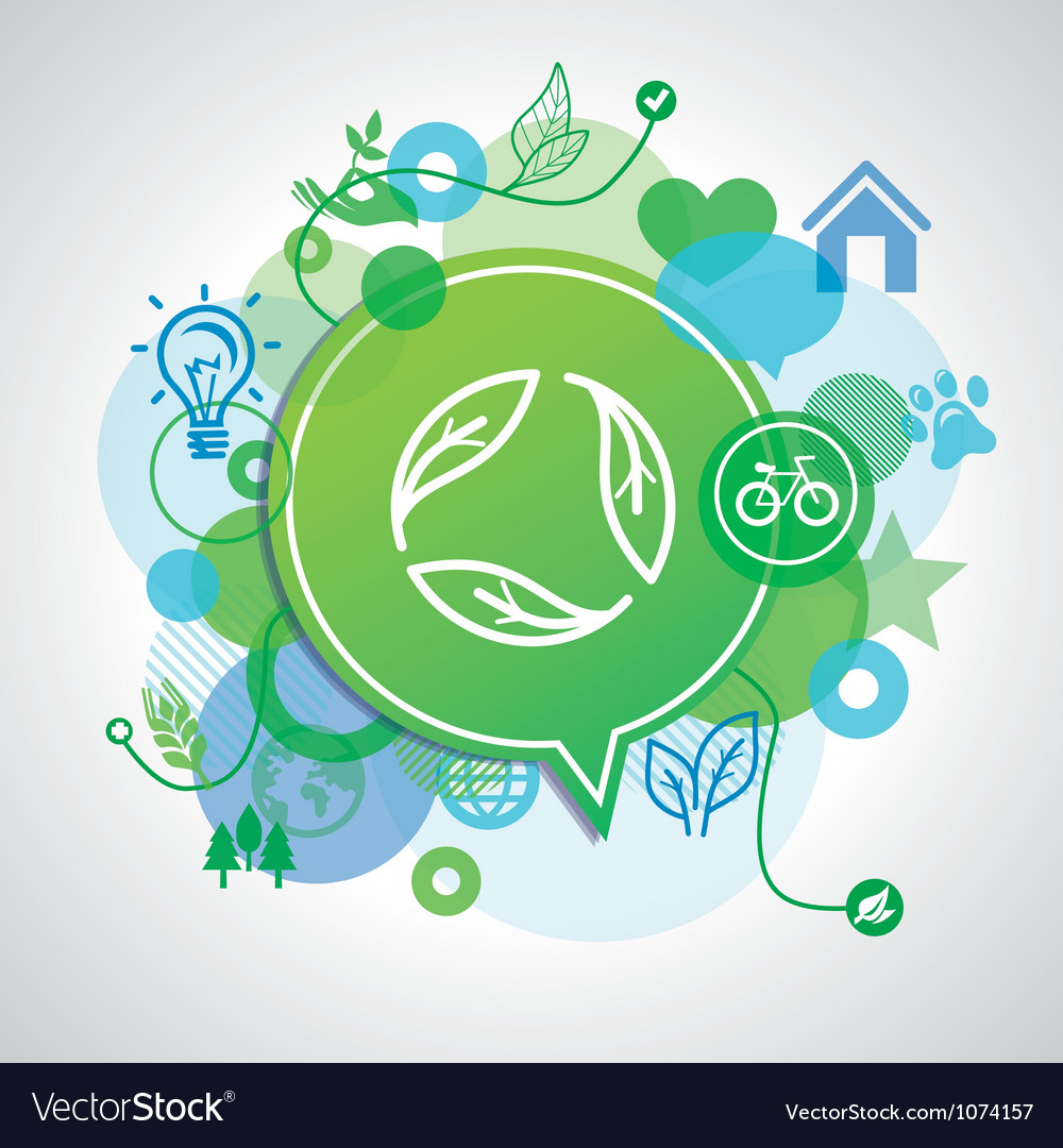 Ecology concept - design elements and signs vector | Price: 1 Credit (USD $1)