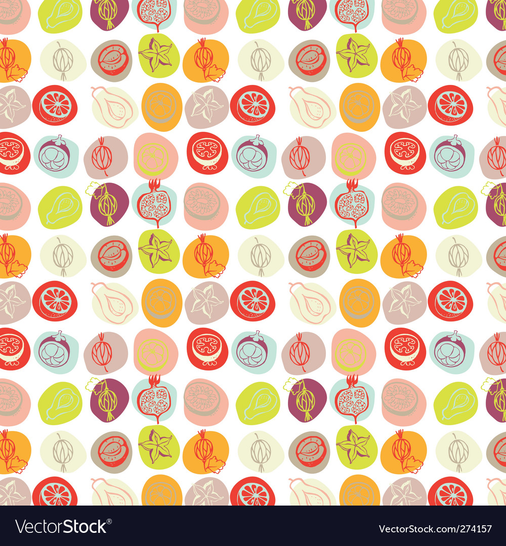 Exotic fruits pattern vector | Price: 1 Credit (USD $1)