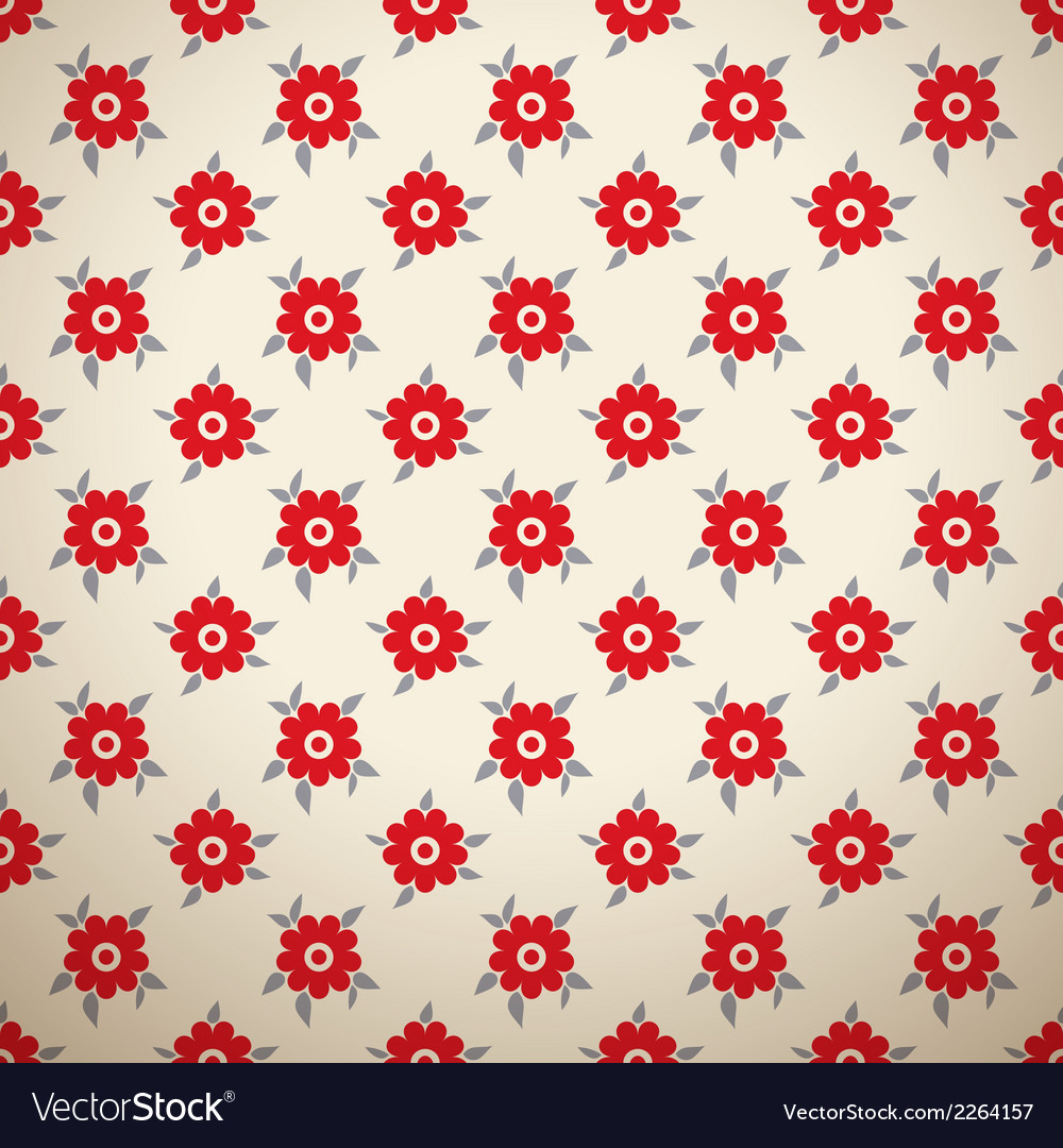 Floral fashionable seamless patterns tiling vector | Price: 1 Credit (USD $1)