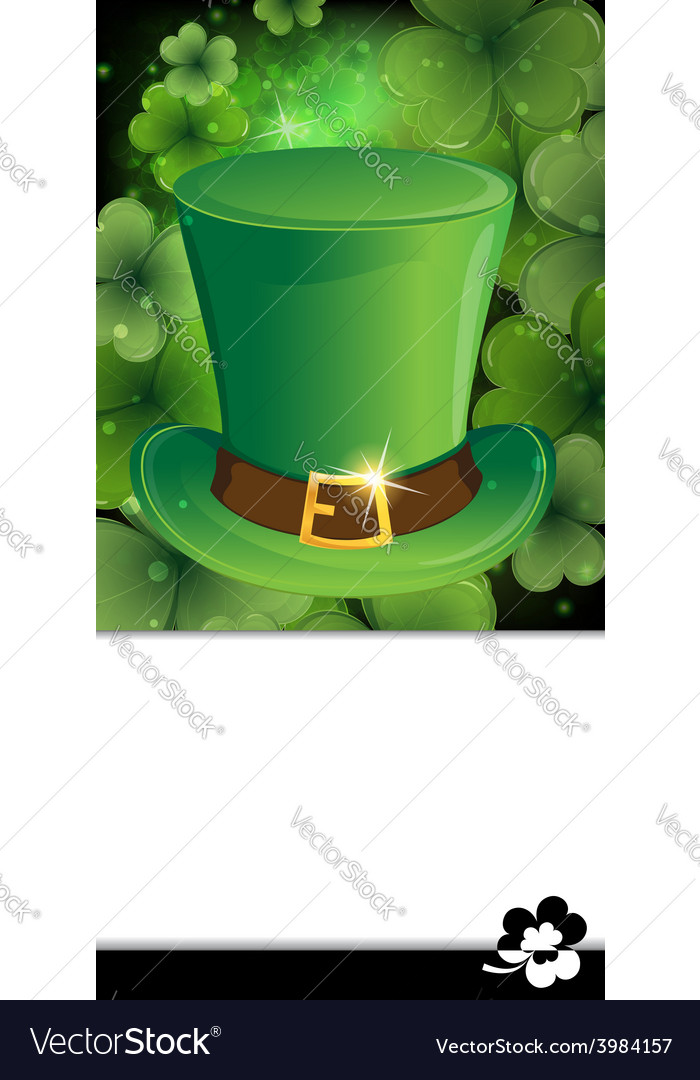 Leprechaun hat with buckle vector | Price: 1 Credit (USD $1)