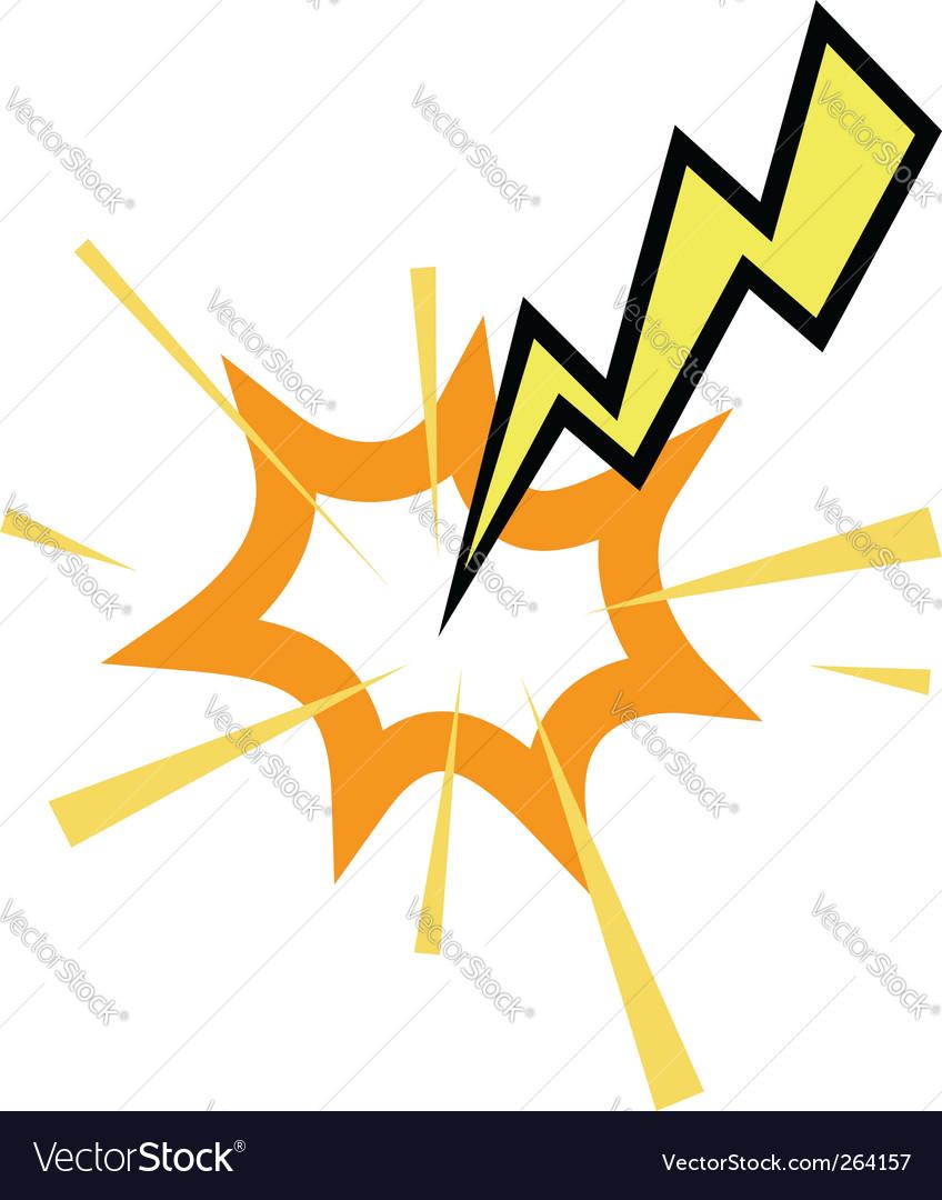 Lightning strike vector | Price: 1 Credit (USD $1)