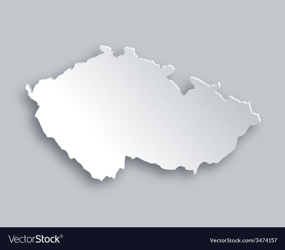 Map of czech republic vector | Price: 1 Credit (USD $1)