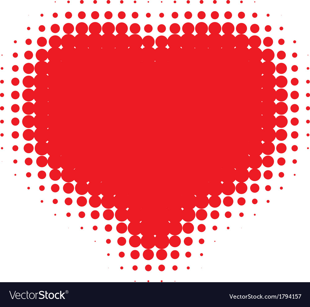 Red heart halftone vector | Price: 1 Credit (USD $1)