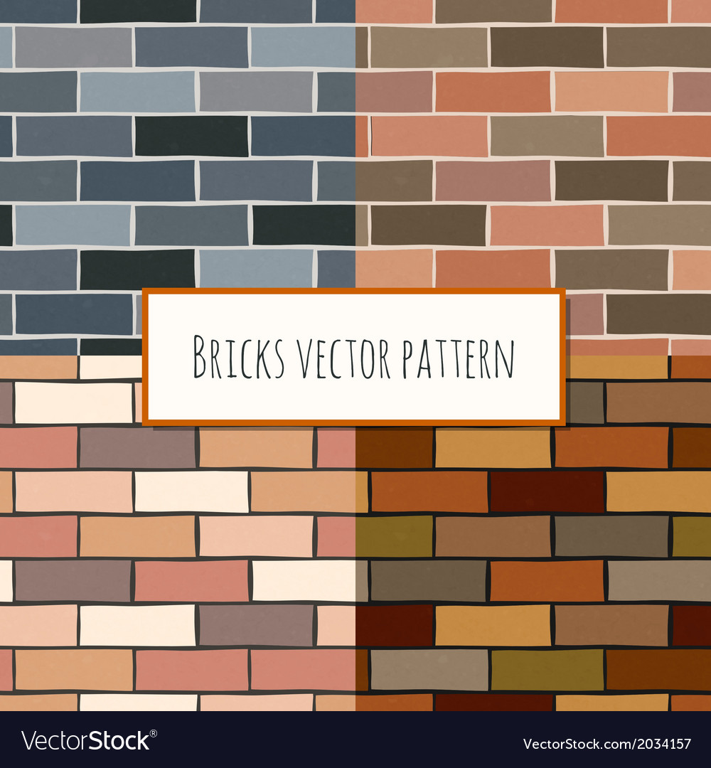 Seamless brick wall rectangular pattern vector | Price: 1 Credit (USD $1)