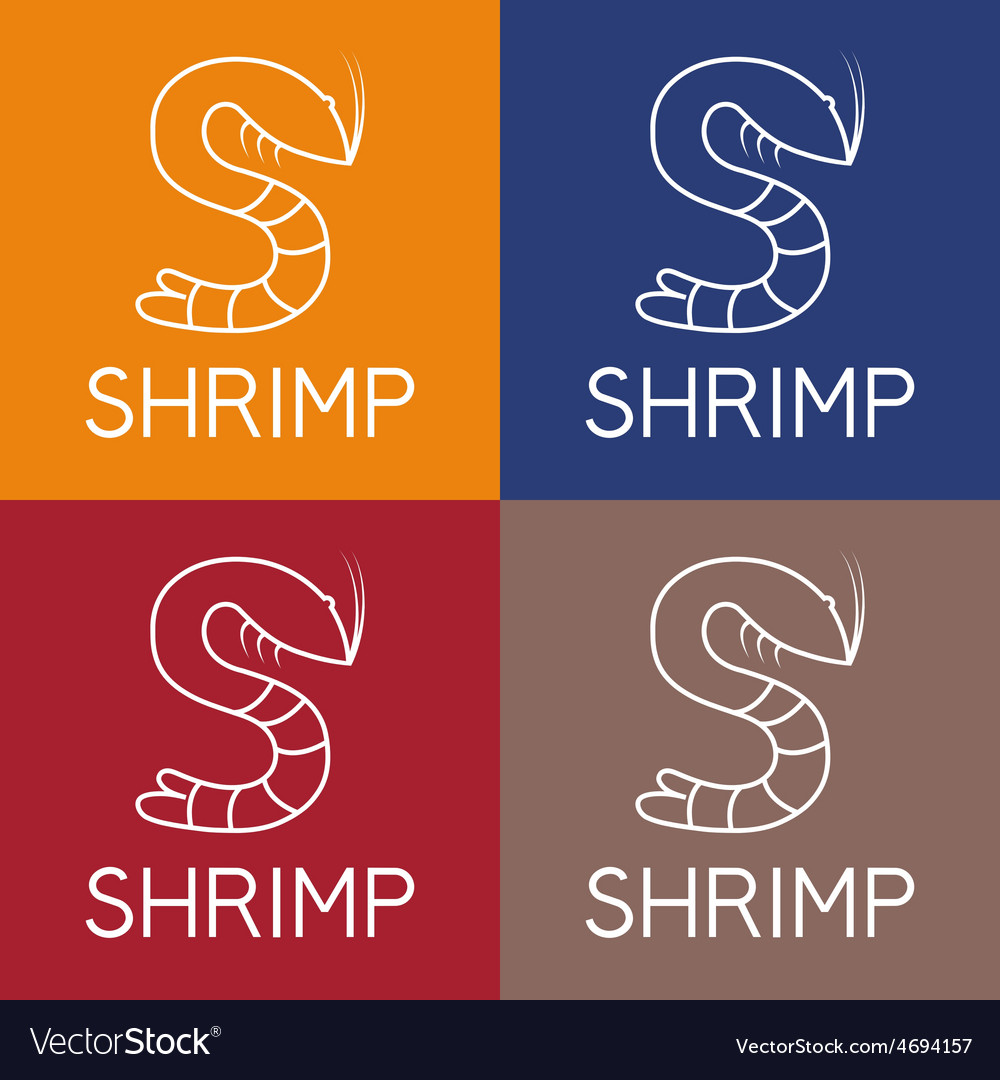 Shrimp monogram vector | Price: 1 Credit (USD $1)