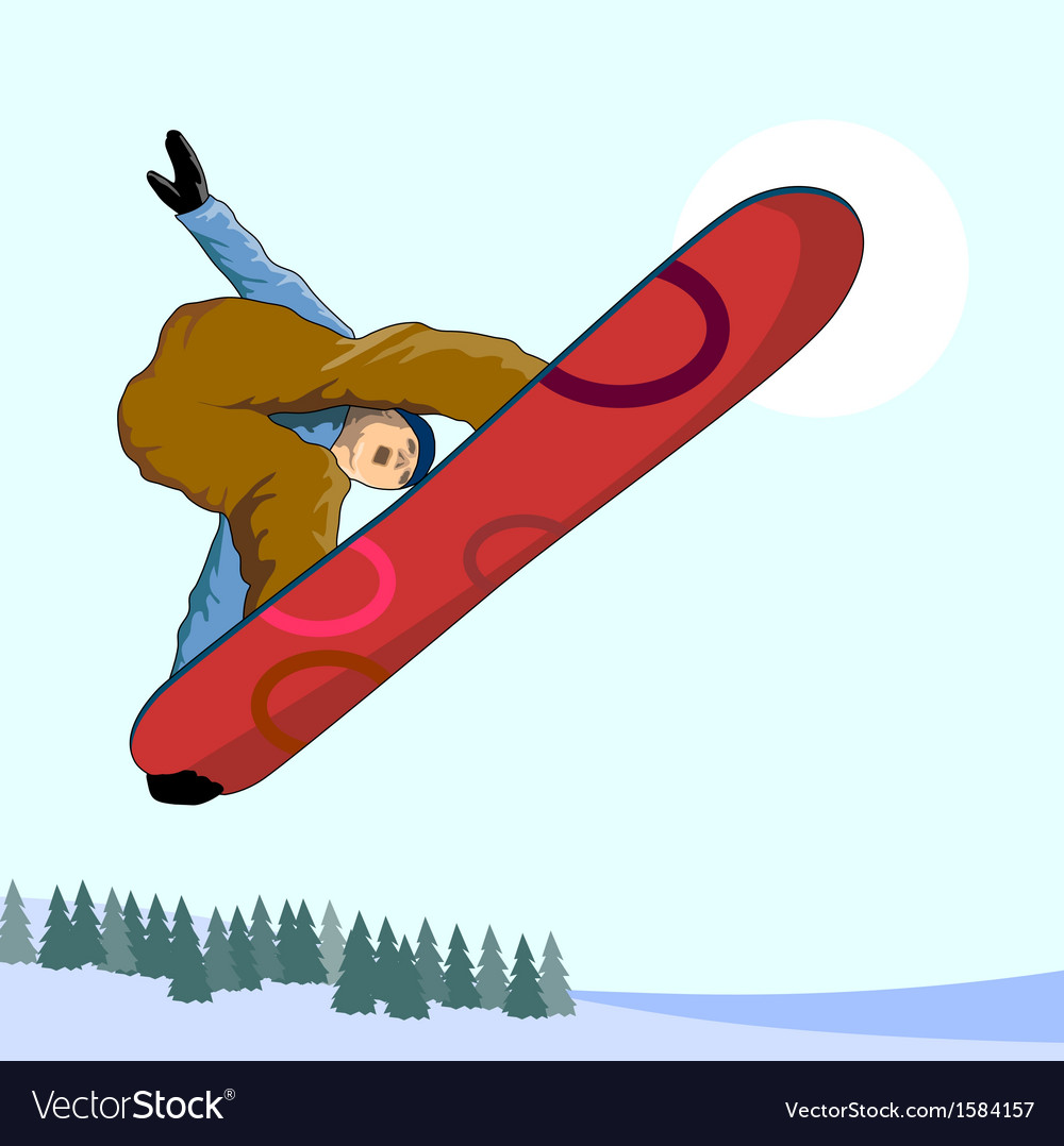 Snowboarding on air vector | Price: 1 Credit (USD $1)