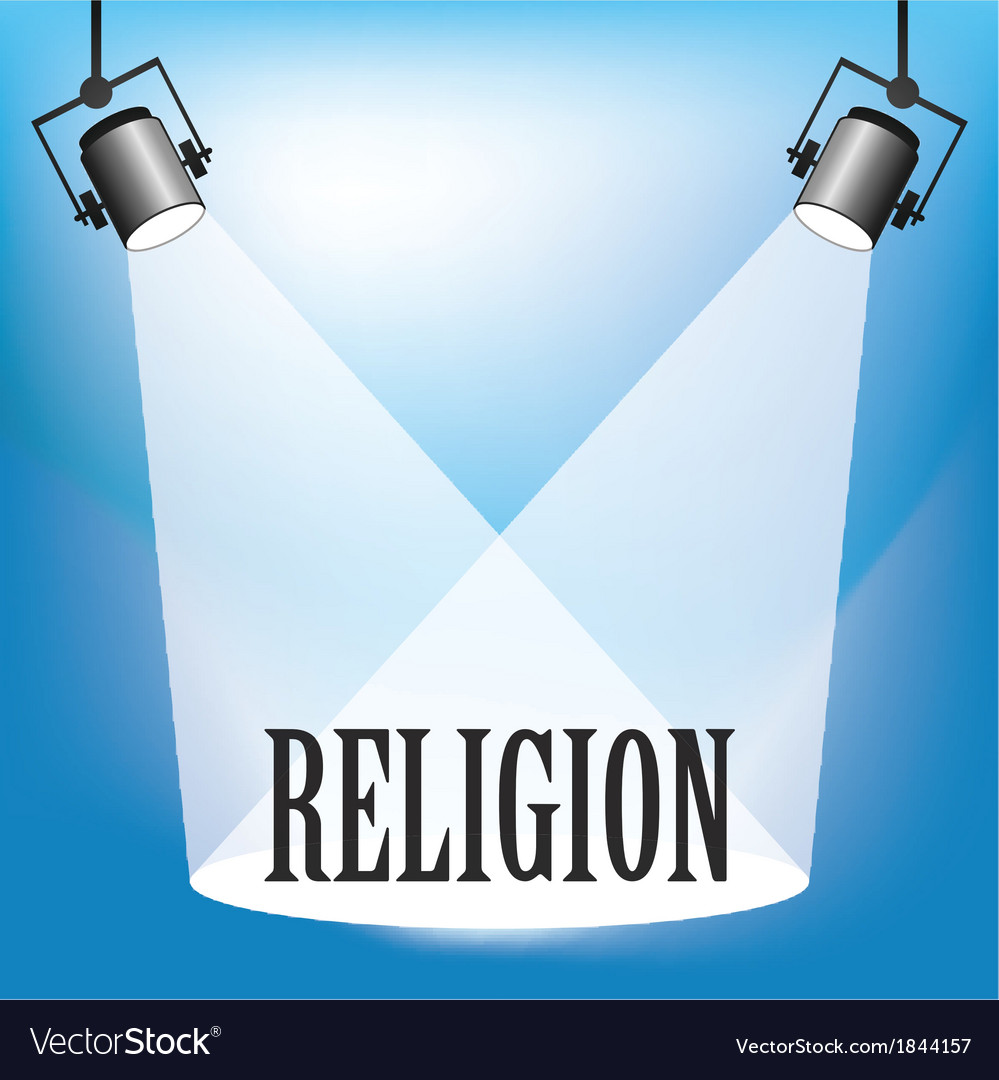 Spotlight religion vector | Price: 1 Credit (USD $1)