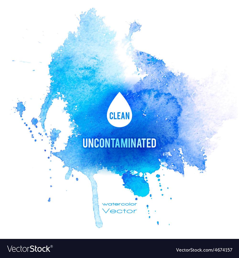 Watercolor blue texture vector | Price: 1 Credit (USD $1)