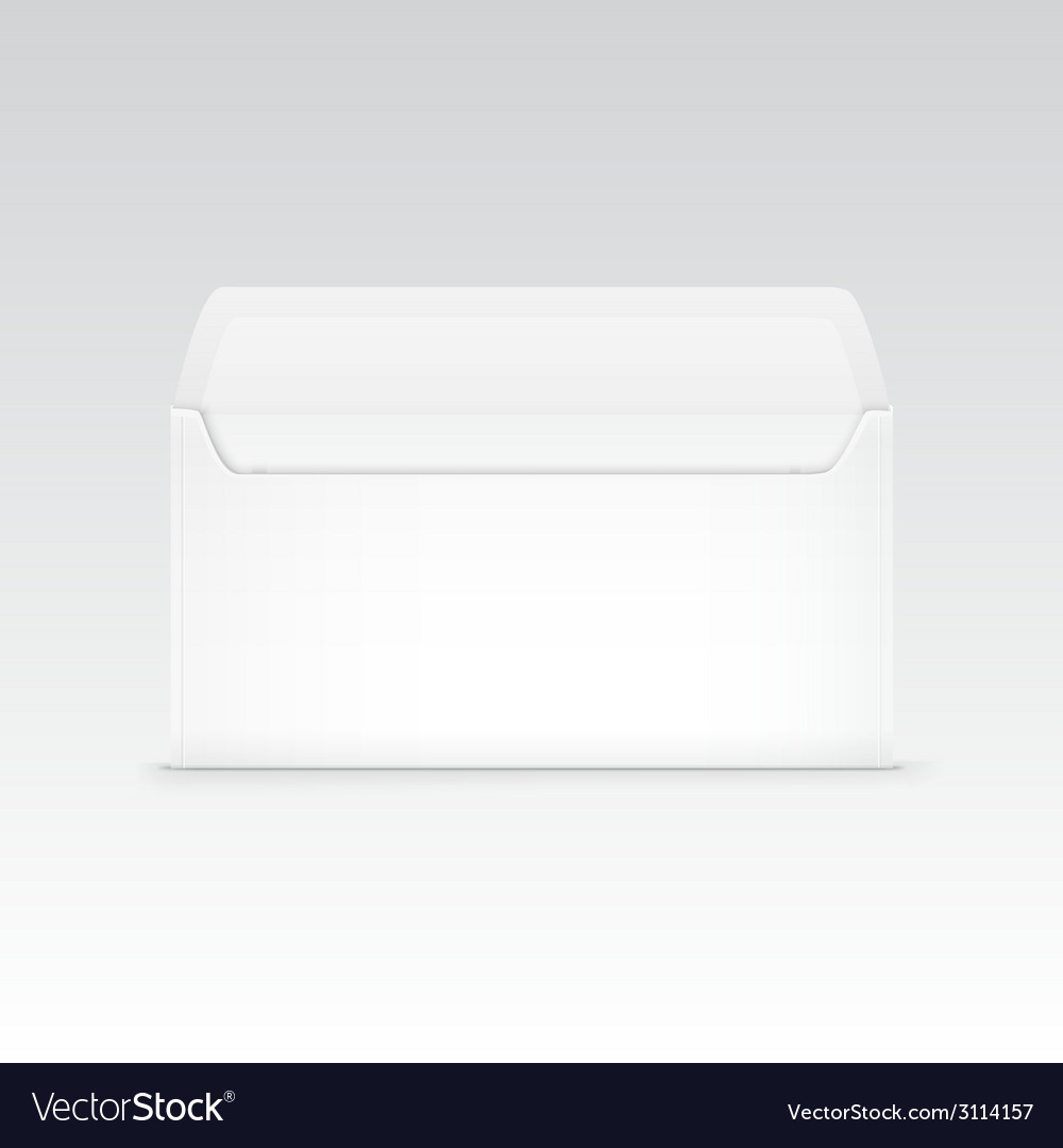 White blank envelope isolated vector | Price: 1 Credit (USD $1)