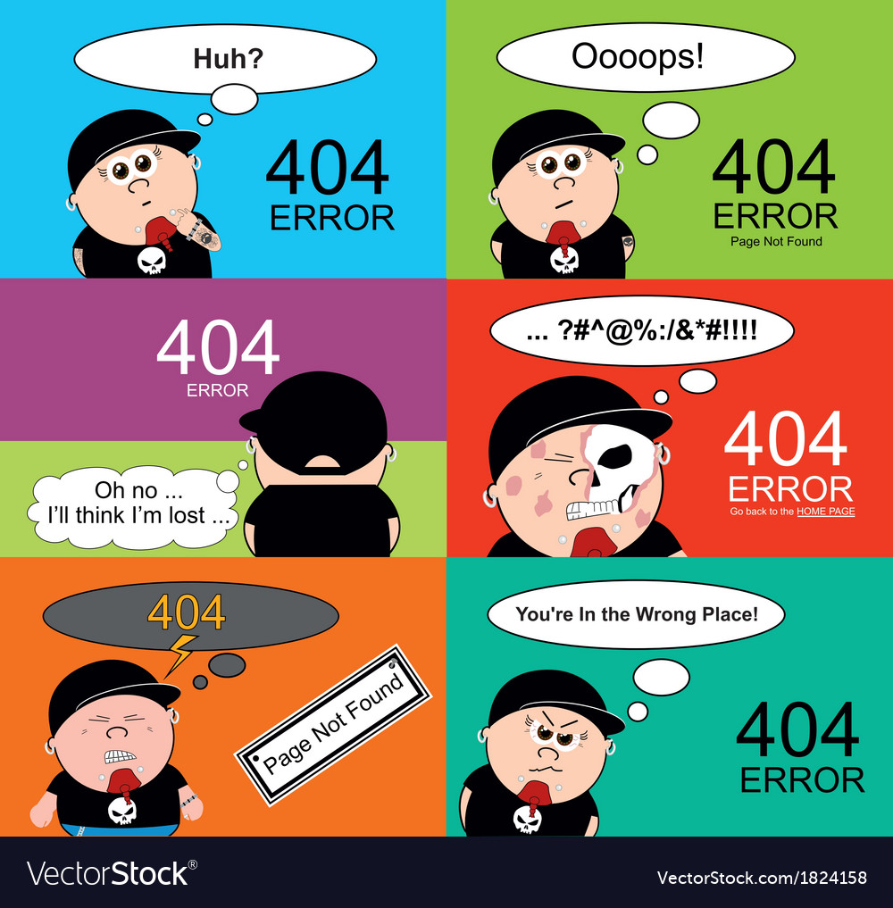 404 error pages vector | Price: 1 Credit (USD $1)