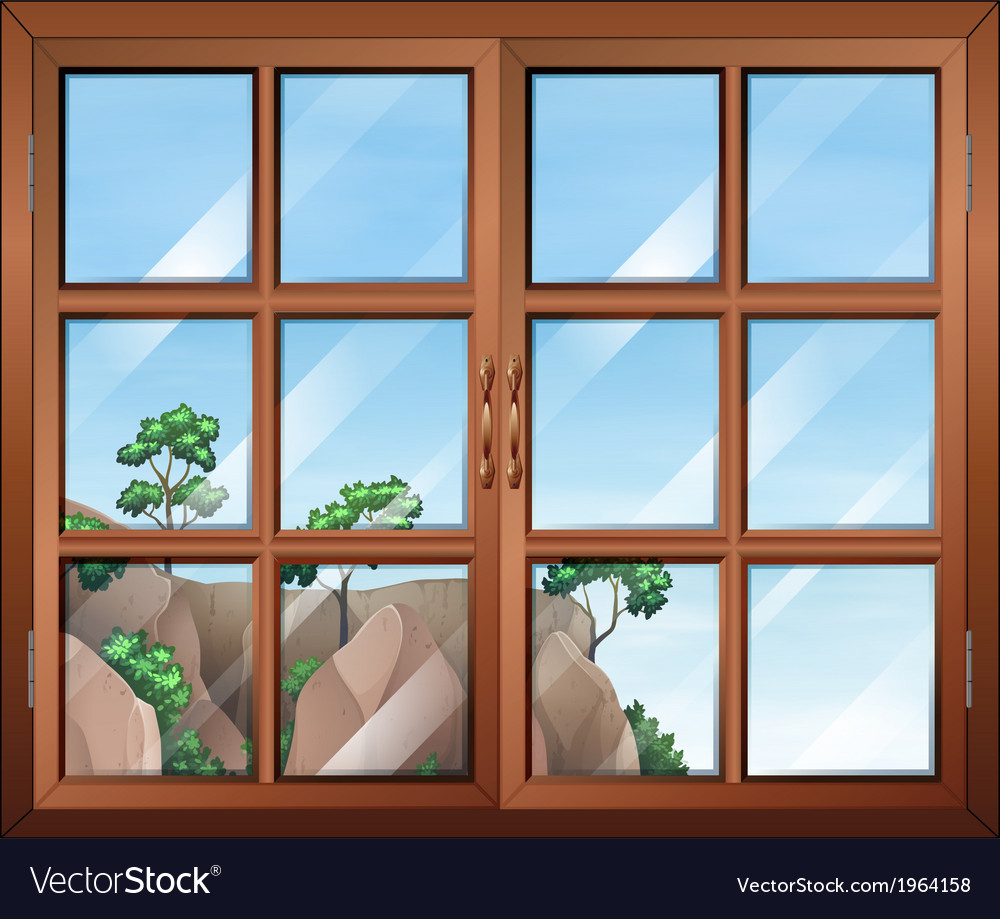 A closed clear window vector | Price: 1 Credit (USD $1)