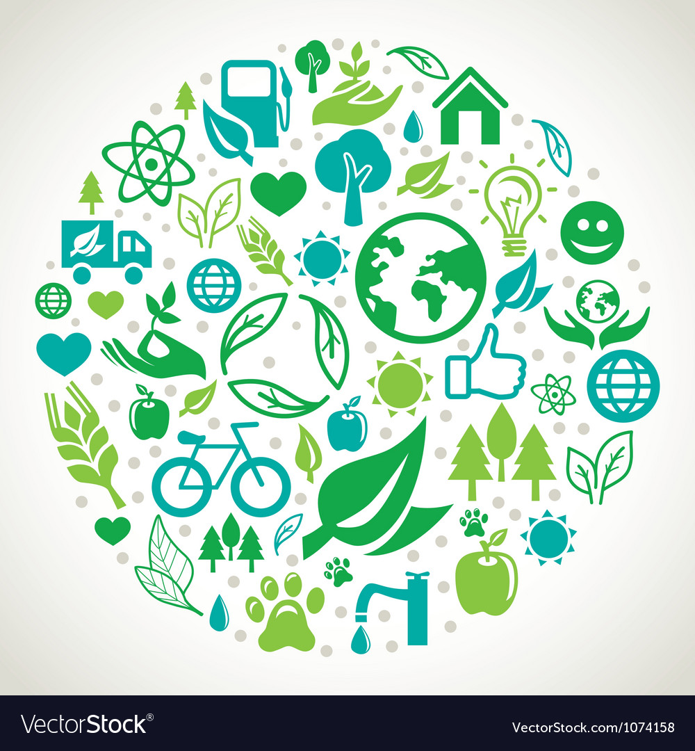 Ecology concept vector | Price: 1 Credit (USD $1)