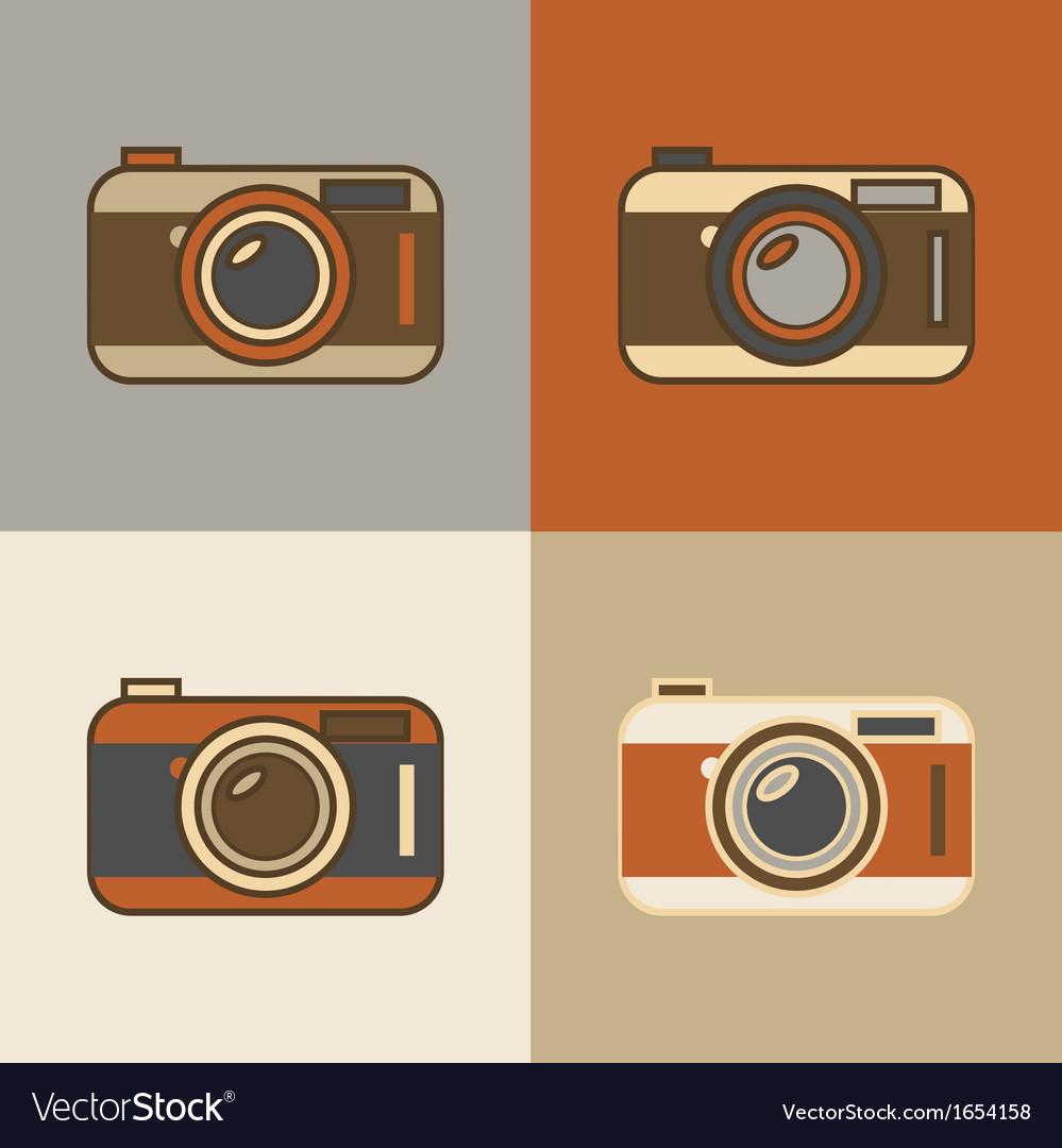 Flat retro camera icons vector   Price: 1 Credit (USD $1)