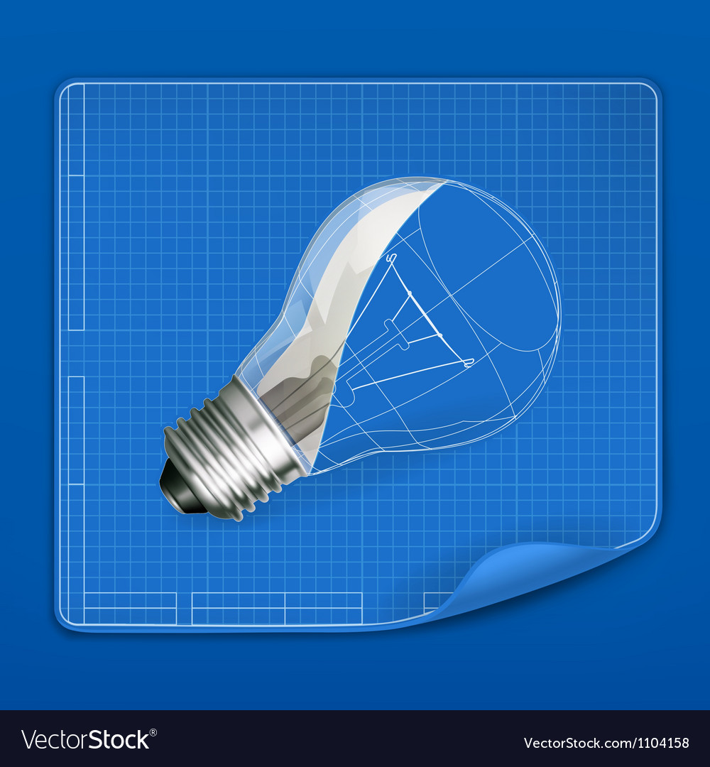 Lamp drawing blueprint vector | Price: 1 Credit (USD $1)