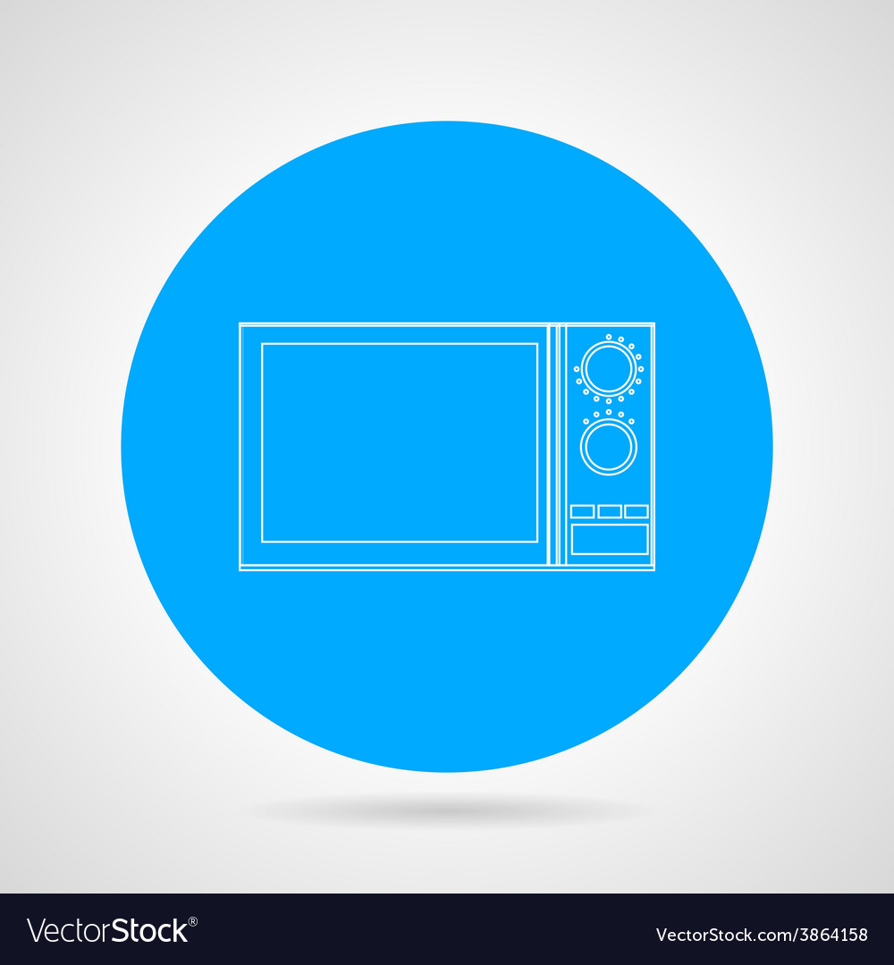 Microwave flat line icon vector | Price: 1 Credit (USD $1)