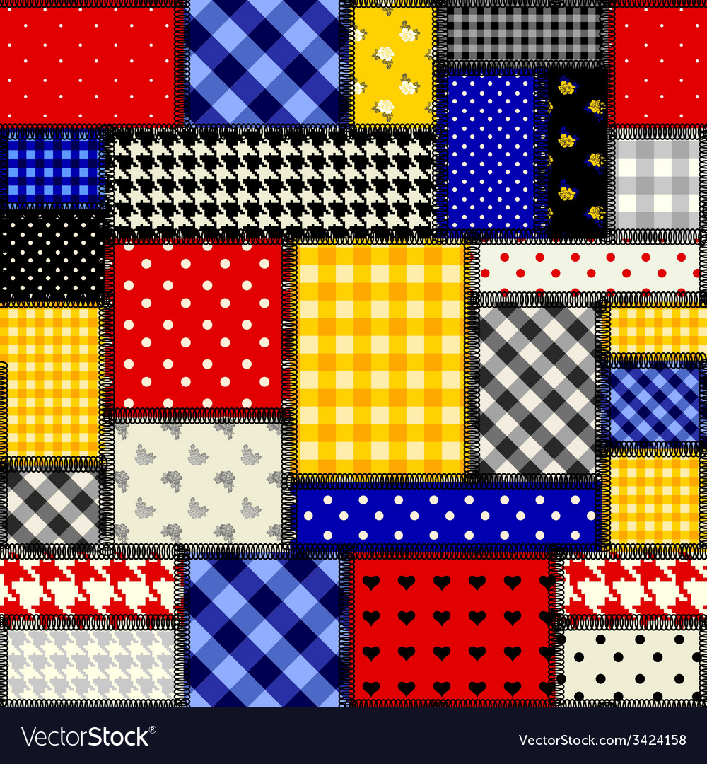 Patchwork in cubism style vector | Price: 1 Credit (USD $1)