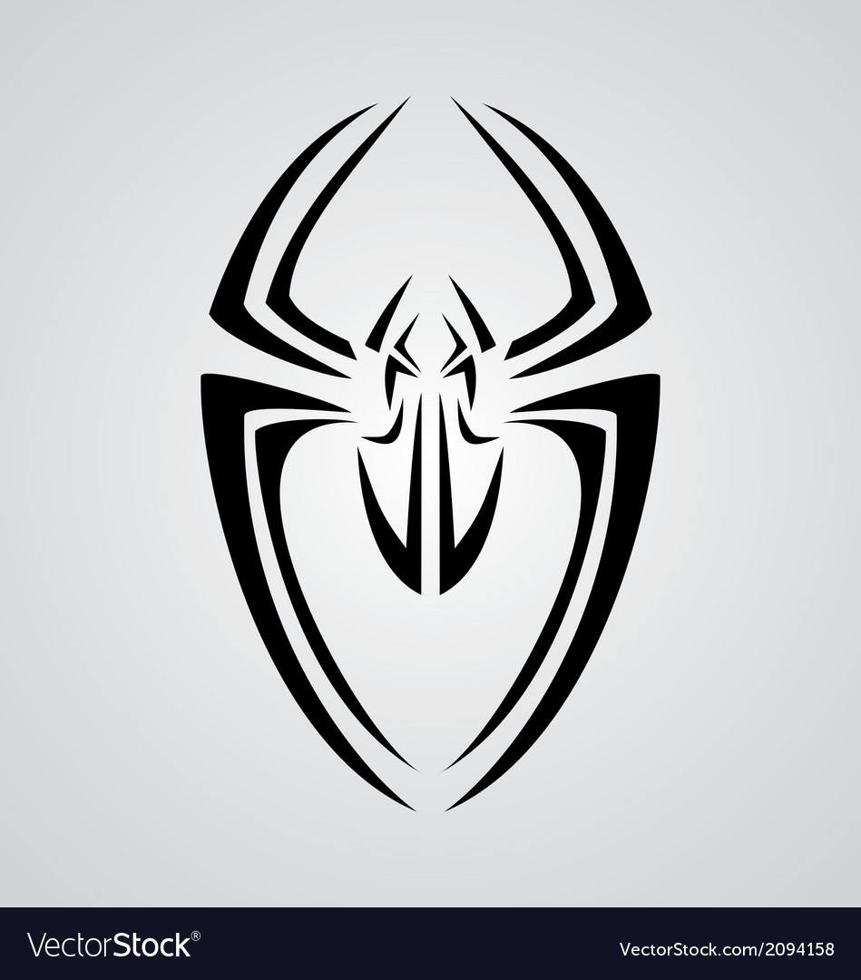 Spider tribal vector | Price: 1 Credit (USD $1)