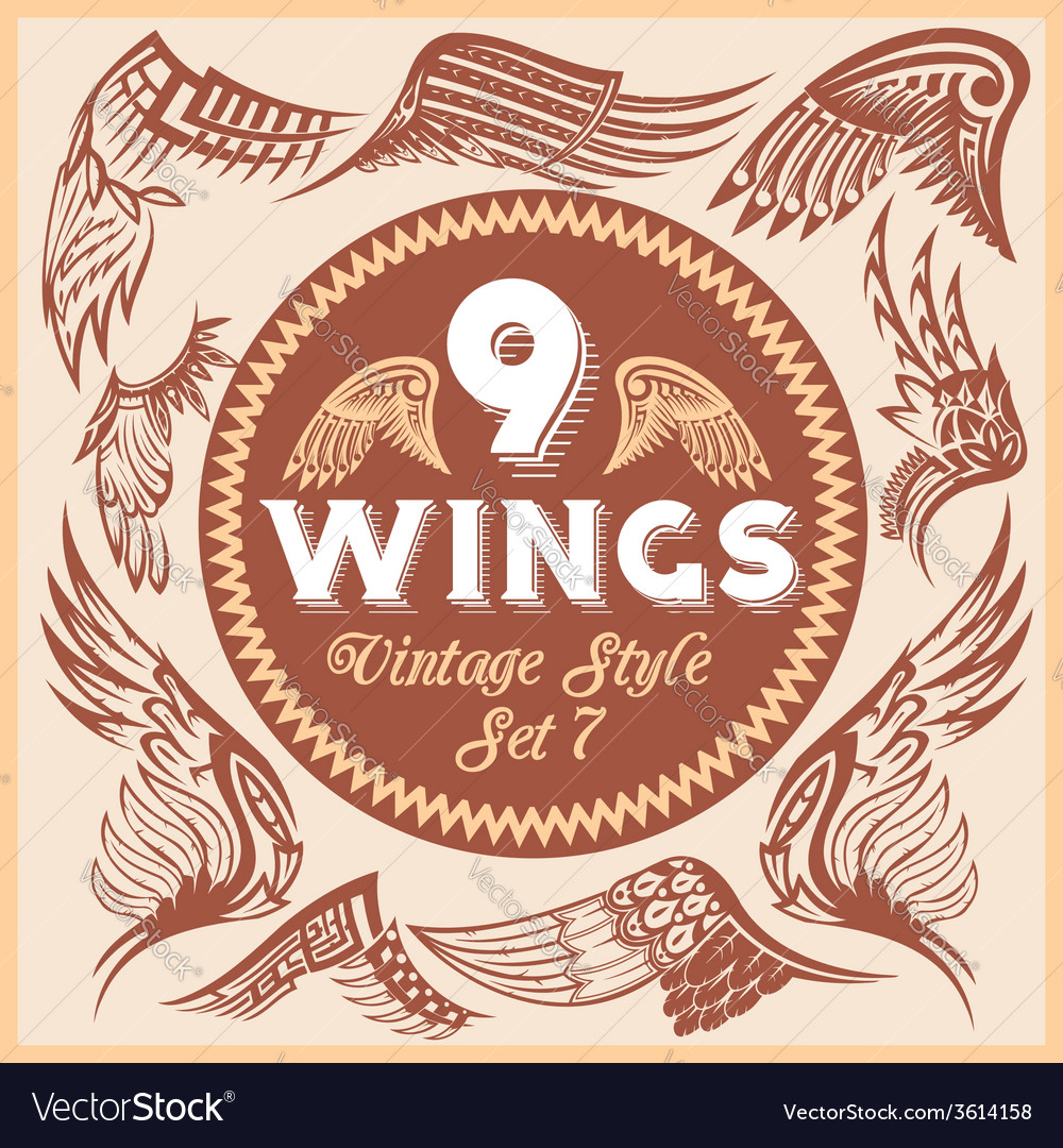Wings set vinyl-ready vector | Price: 1 Credit (USD $1)