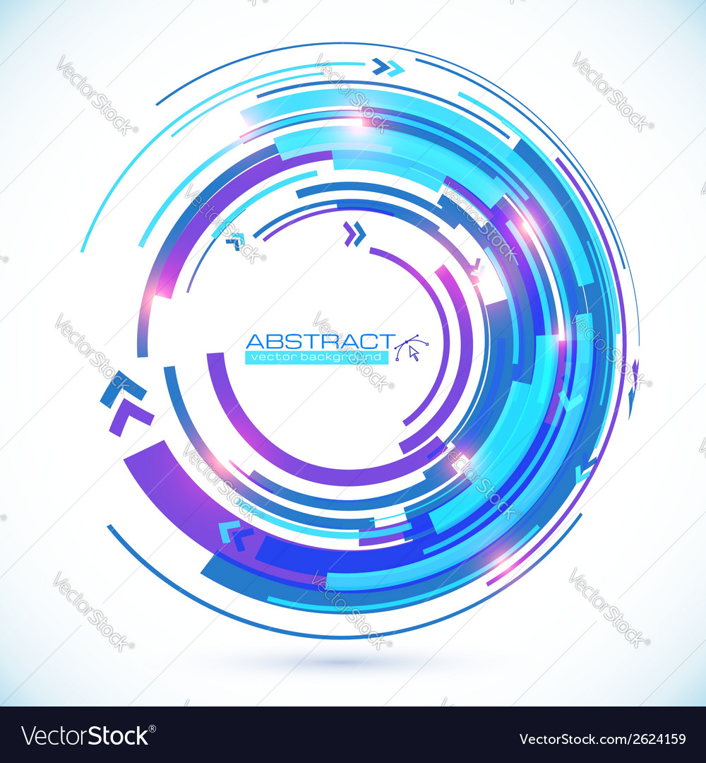 Abstract blue techno spiral background vector | Price: 1 Credit (USD $1)