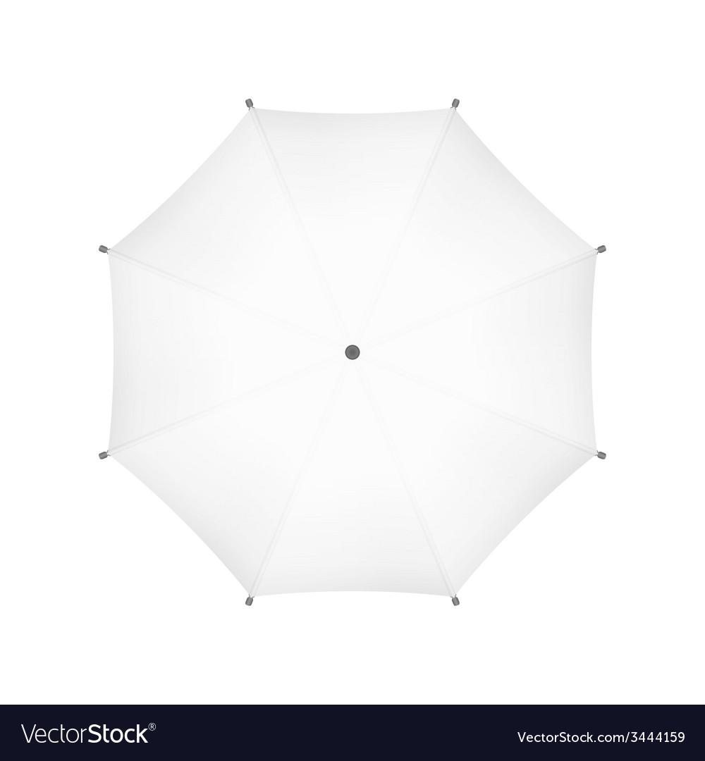 Blank white umbrella top view vector   Price: 1 Credit (USD $1)