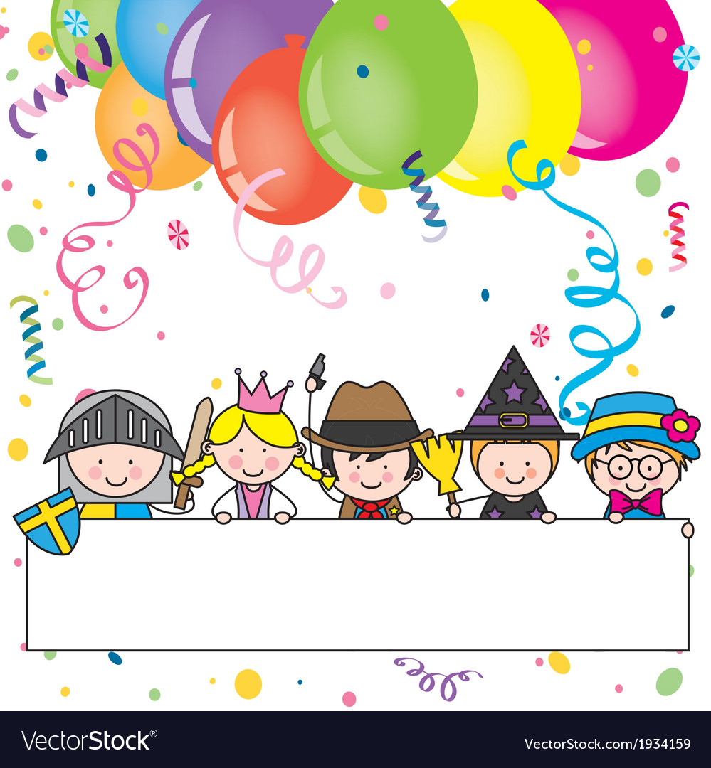 Costume party card vector | Price: 1 Credit (USD $1)